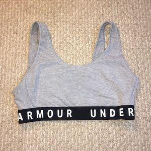 Under Armour Gray & Black Sports Bra Size Medium